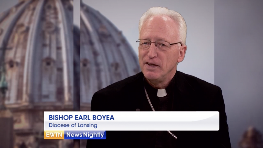 EWTN News Nightly interviews Bishop Boyea