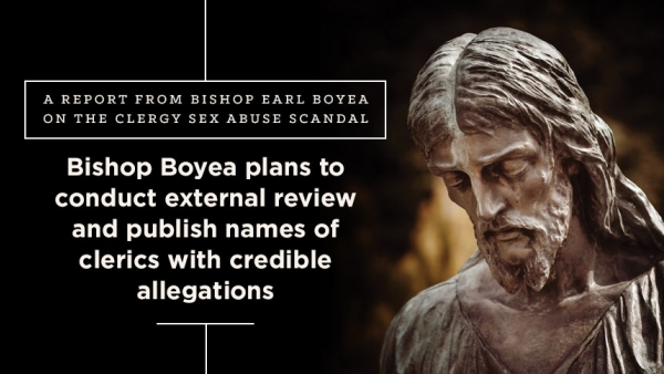 bishop boyea plans to conduct external review and publish names of clerics with credible allegations