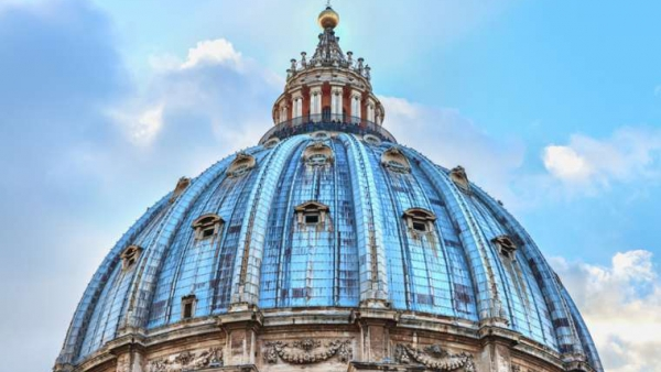 he dome of St. Peter's Basilica. Credit: Luxerendering