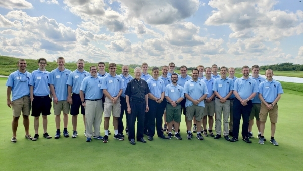 Bishop Boyea and Diocese of Lansing Seminarians at Bishop's Golf Classic 2019