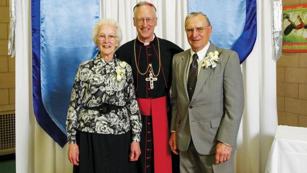 Bishop Boyea with parents